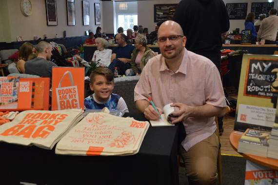 My Teacher author at book signing | News | Gloucester Review